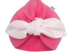 Dívčí čepička turban New Baby For Girls dots - Dívčí čepička turban New Baby For Girls dots